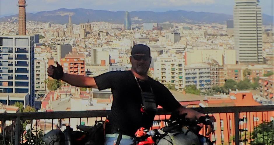 Radtourenfreak mit Radreiserad